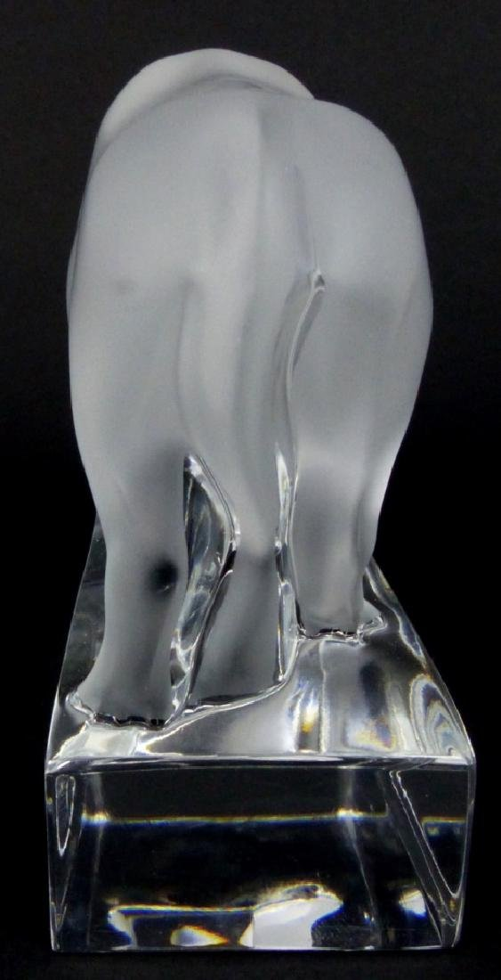 LALIQUE FRANCE CRYSTAL BULL PAPERWEIGHT - 4