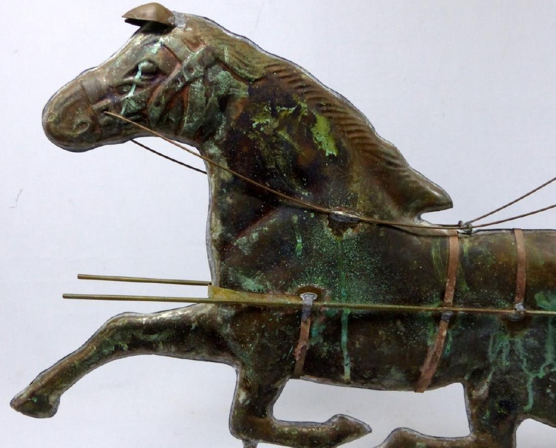 COPPER HORSE & SULKY WEATHERVANE - 3