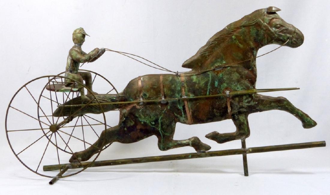 COPPER HORSE & SULKY WEATHERVANE - 7