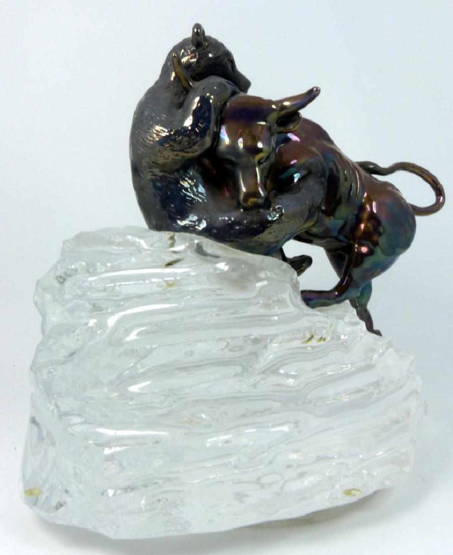 YAACOV HELLER 'THE BULL & BEAR' STERLING SCULPTURE - 7