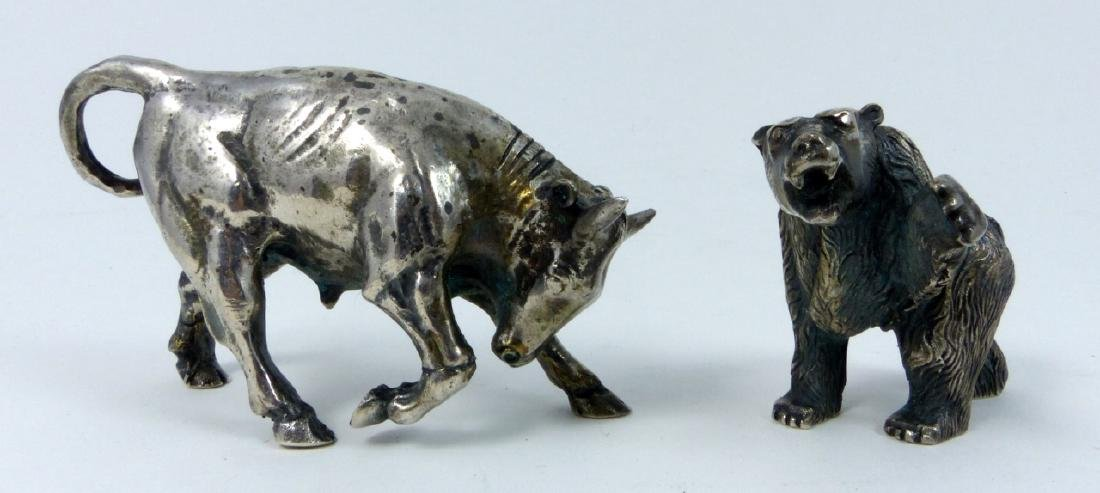 2pc S. KIRK & SON STERLING SILVER BULL & BEAR
