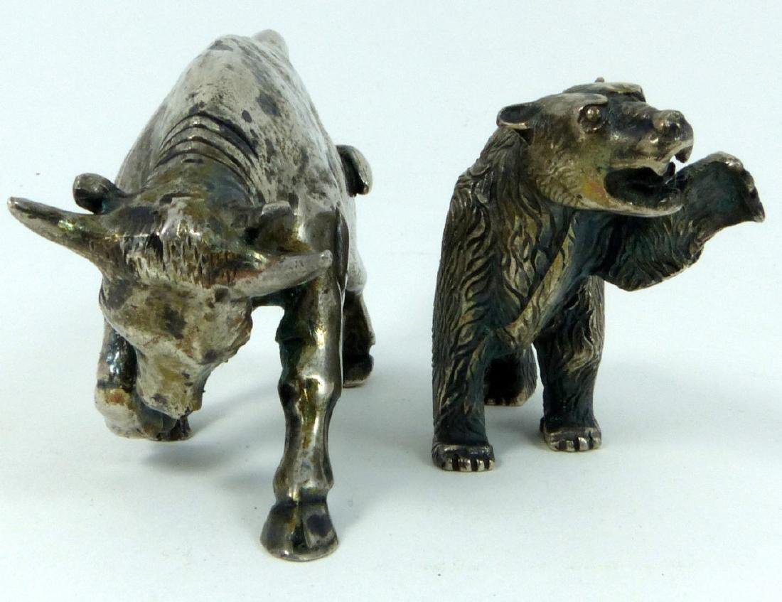 2pc S. KIRK & SON STERLING SILVER BULL & BEAR - 2