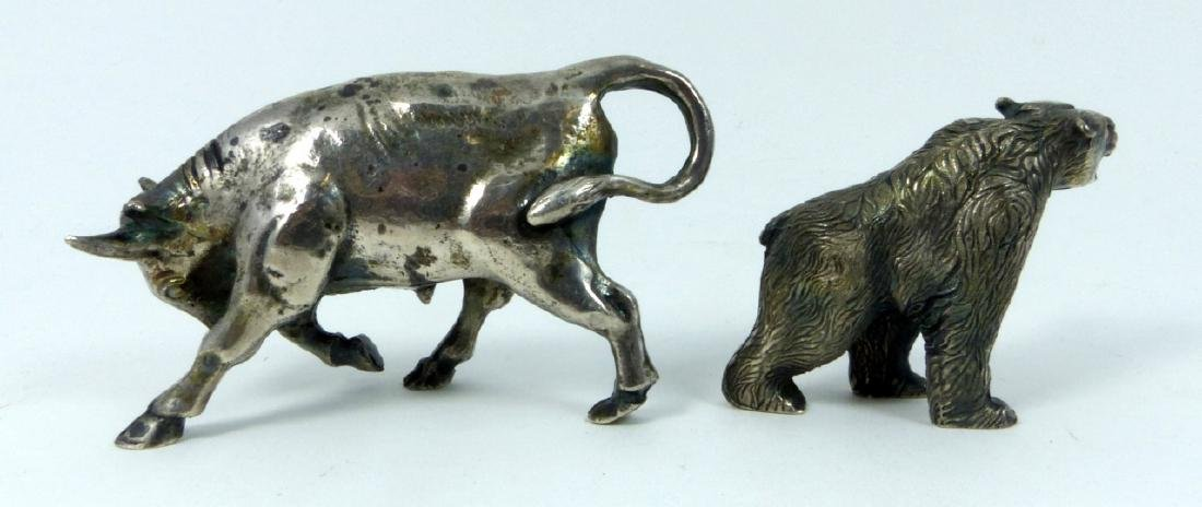 2pc S. KIRK & SON STERLING SILVER BULL & BEAR - 3
