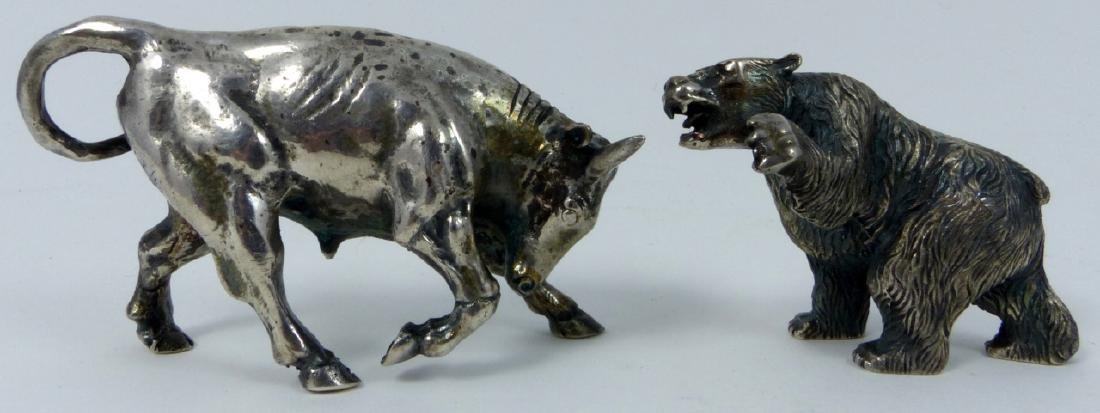 2pc S. KIRK & SON STERLING SILVER BULL & BEAR - 5