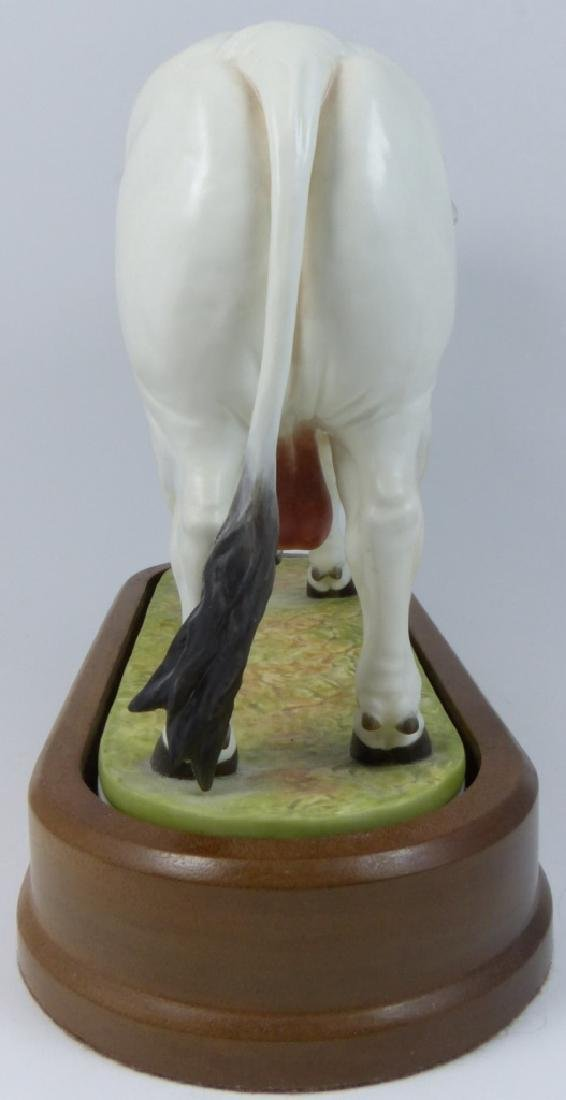 ROYAL WORCESTER 'BRAHMAN BULL' PORCELAIN FIGURE - 4