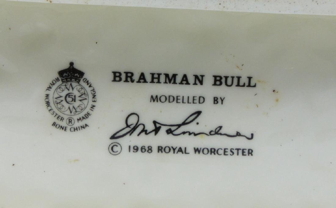 ROYAL WORCESTER 'BRAHMAN BULL' PORCELAIN FIGURE - 6