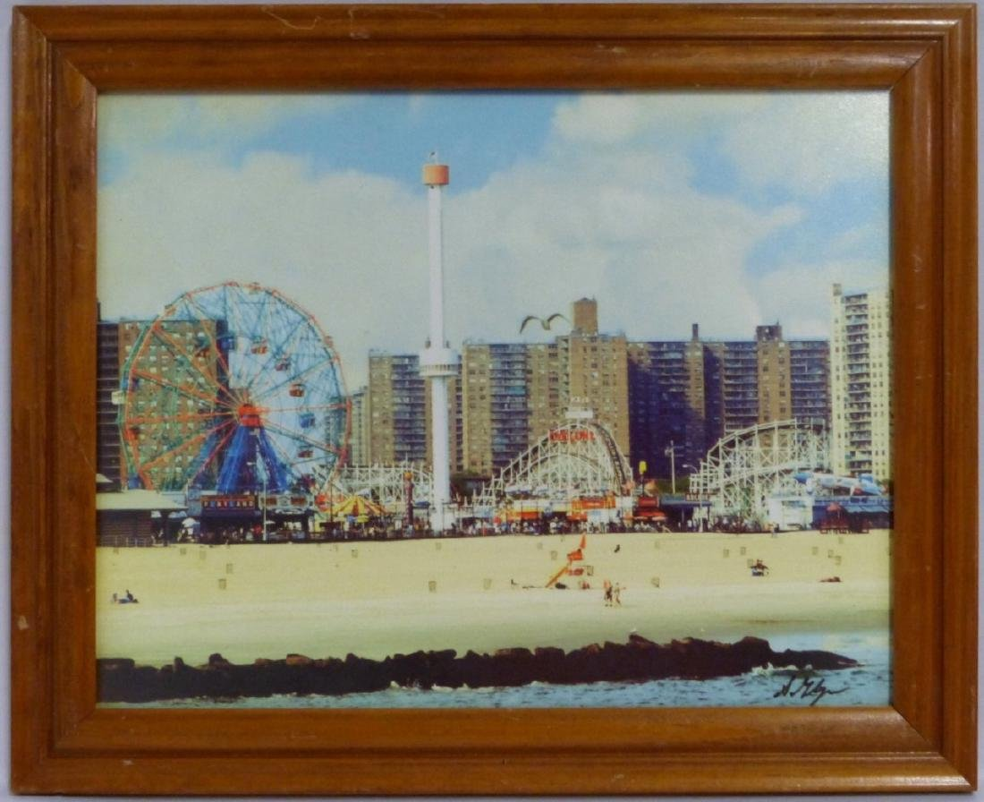 CONEY ISLAND VINTAGE PHOTOGRAPH SIGNED