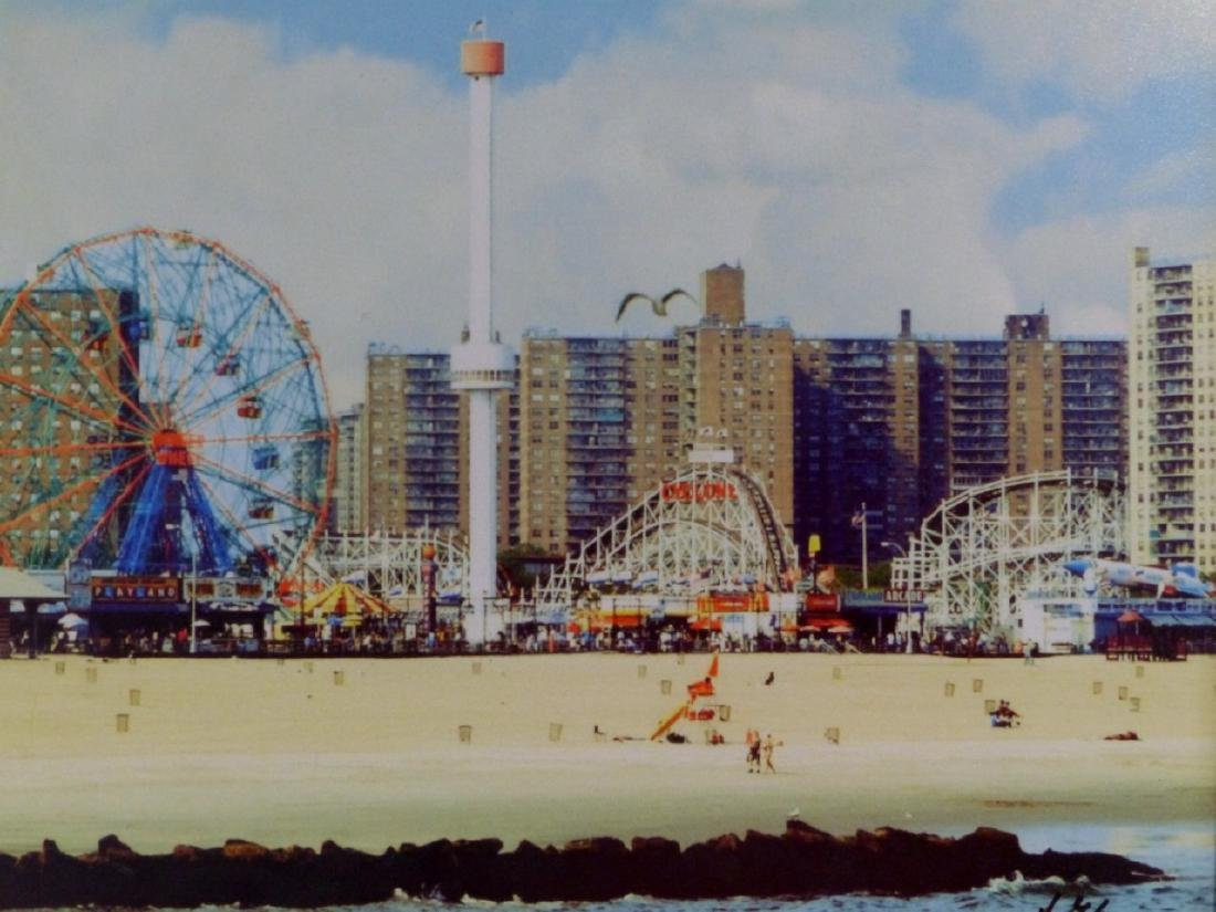 CONEY ISLAND VINTAGE PHOTOGRAPH SIGNED - 2