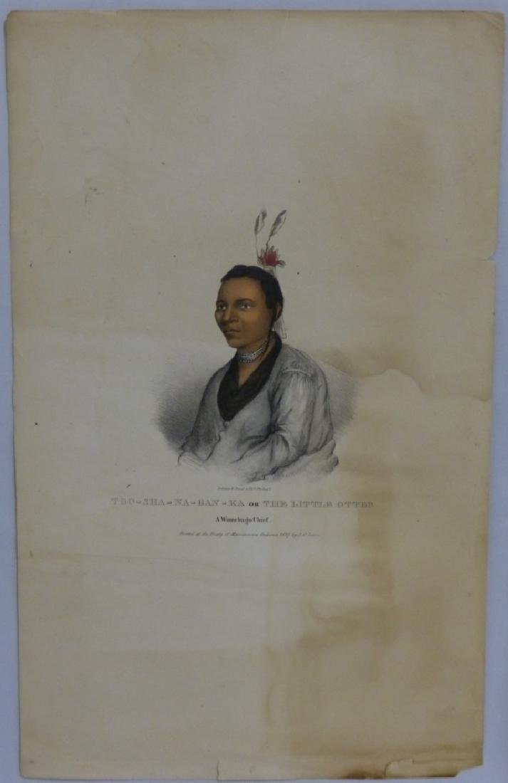 2pc NATIVE AMERICAN HAND COLORED LITHOGRAPHS - 2