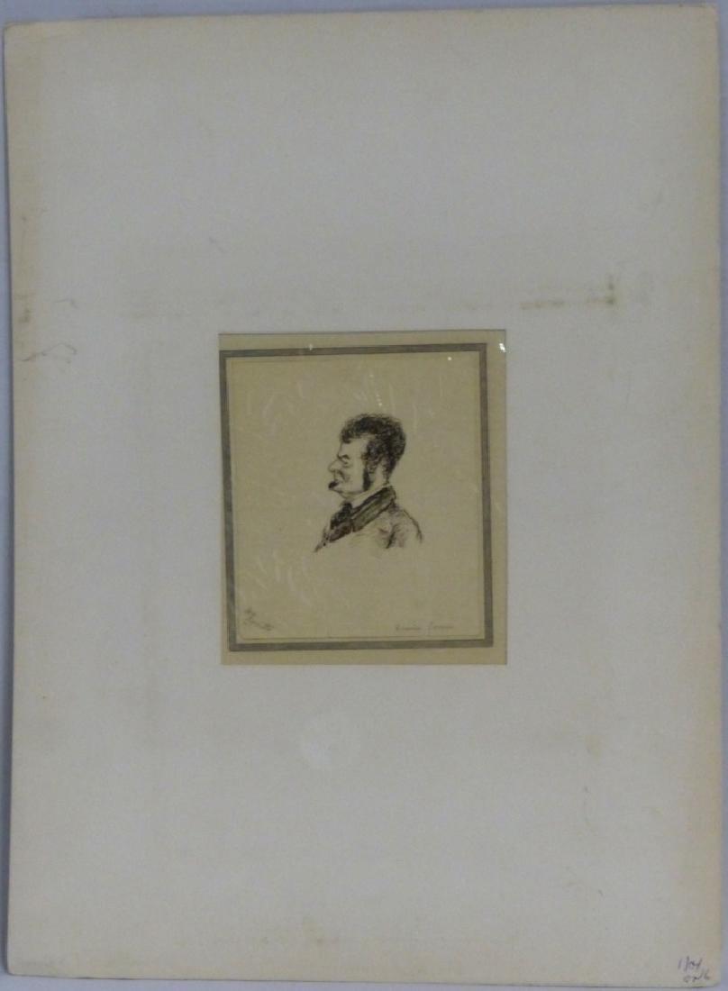 THOMAS WORTH 'EDWIN FORREST' INK PORTRAIT ON PAPER