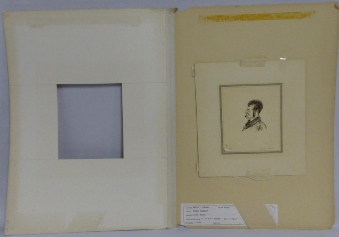 THOMAS WORTH 'EDWIN FORREST' INK PORTRAIT ON PAPER - 2
