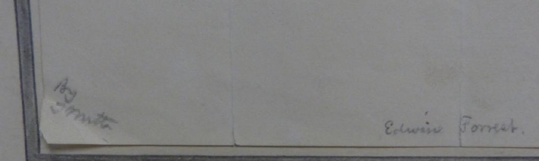 THOMAS WORTH 'EDWIN FORREST' INK PORTRAIT ON PAPER - 4