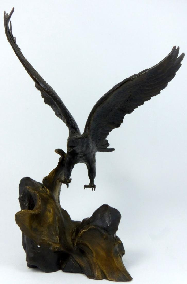 RONALD VAN RUYCKEVELT WINGS OF GLORY BRONZE EAGLE