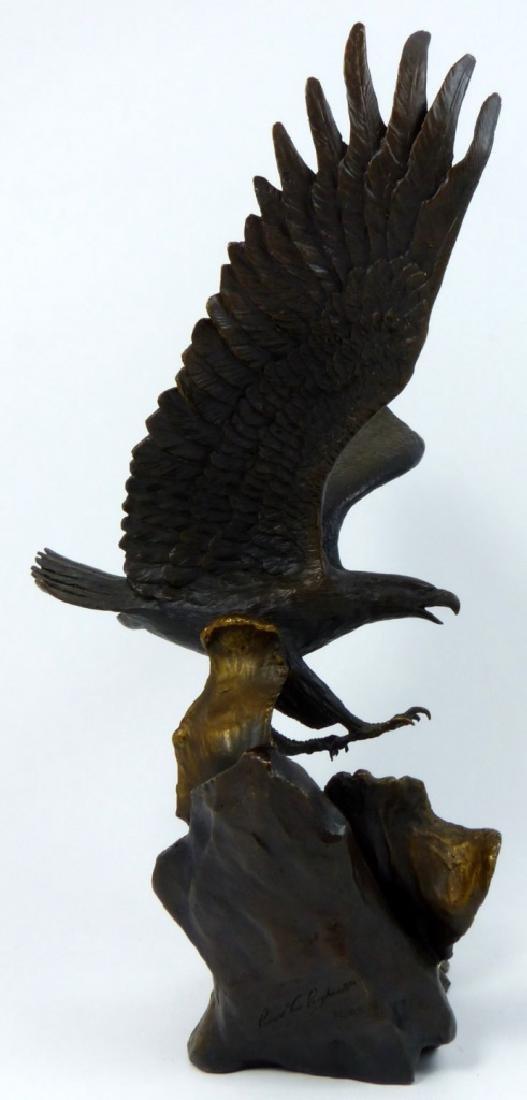 RONALD VAN RUYCKEVELT WINGS OF GLORY BRONZE EAGLE - 2
