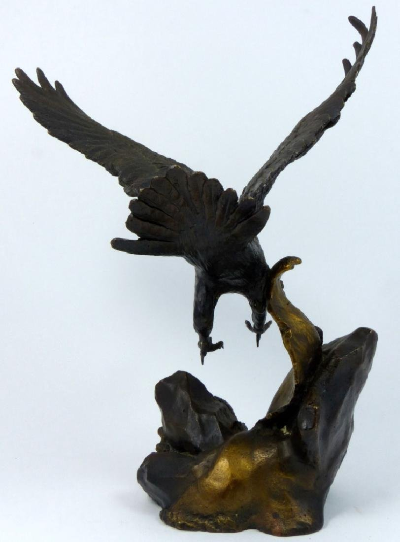 RONALD VAN RUYCKEVELT WINGS OF GLORY BRONZE EAGLE - 4