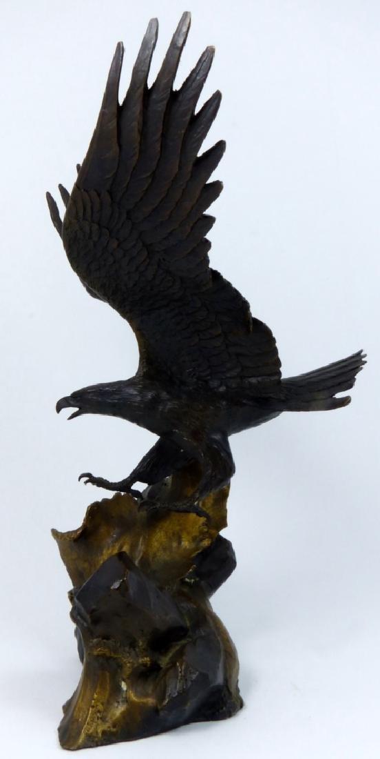 RONALD VAN RUYCKEVELT WINGS OF GLORY BRONZE EAGLE - 5
