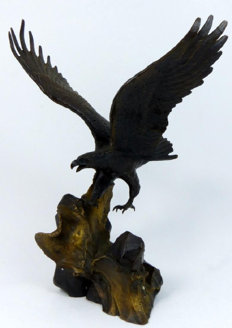 RONALD VAN RUYCKEVELT WINGS OF GLORY BRONZE EAGLE - 6