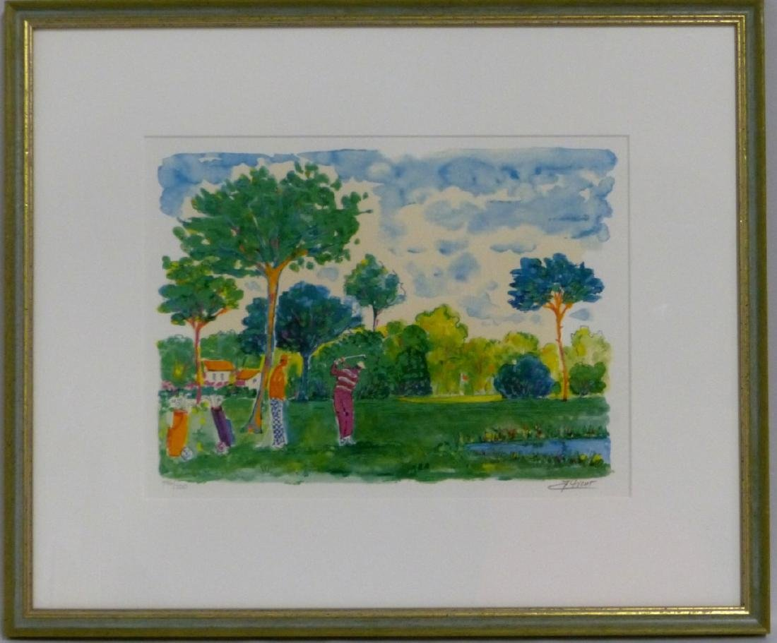 JEAN CLAUDE PICOT SERIOLITHOGRAPH SIGNED