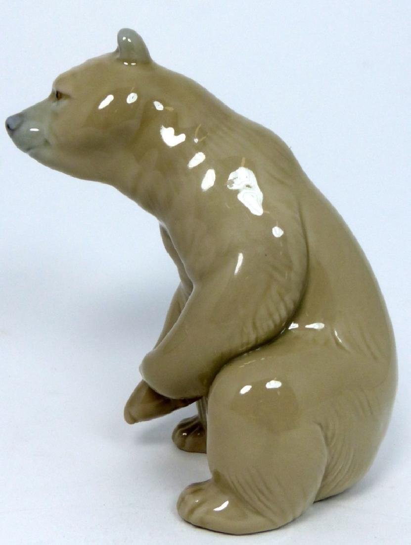 LLADRO PORCELAIN SEATED BROWN BEAR FIGURINE - 2