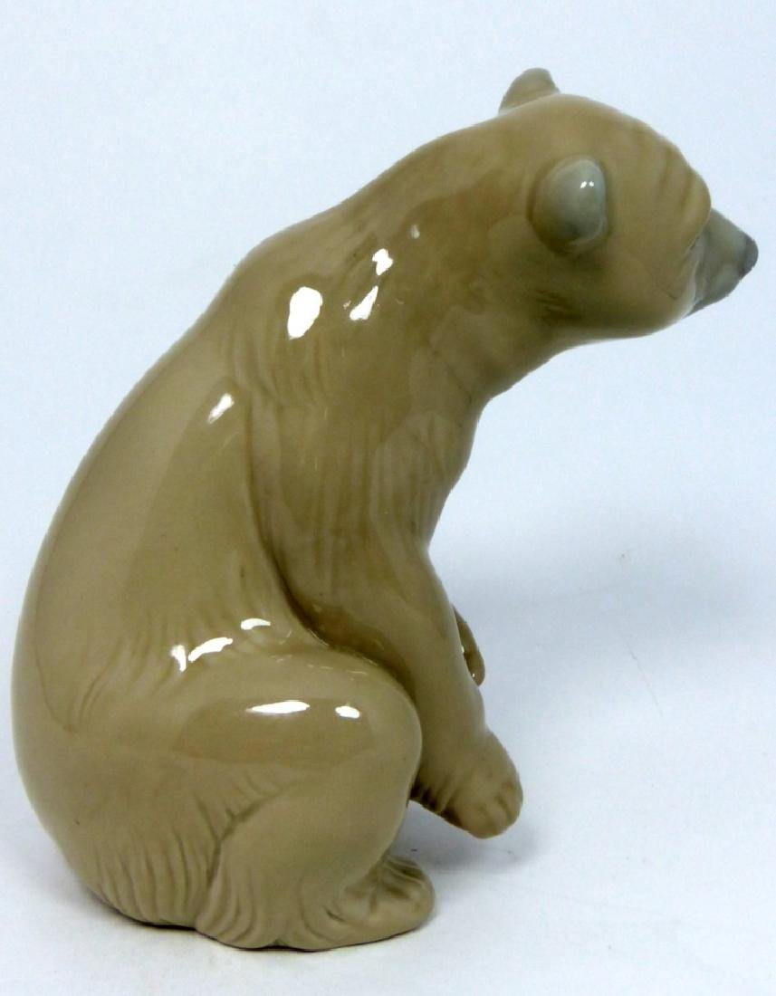 LLADRO PORCELAIN SEATED BROWN BEAR FIGURINE - 4