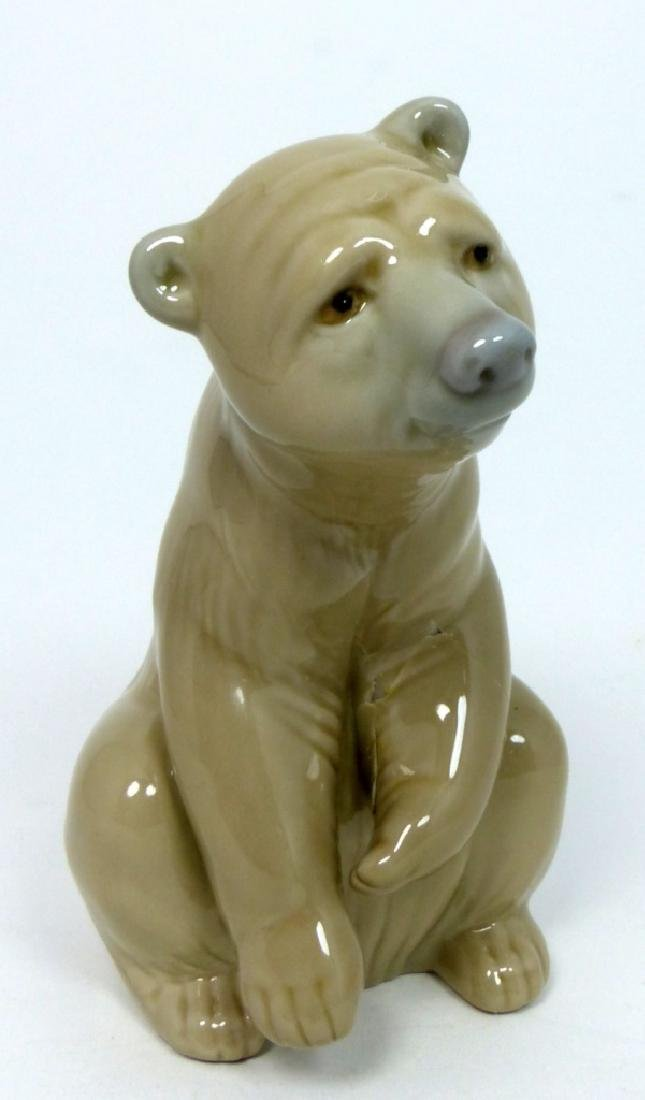 LLADRO PORCELAIN SEATED BROWN BEAR FIGURINE - 5