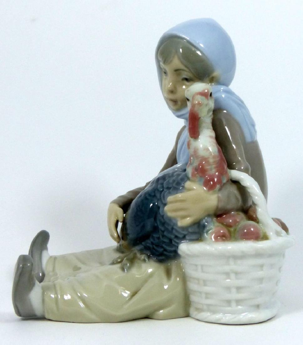 LLADRO 'GIRL WITH TURKEY' PORCELAIN FIGURINE 4569 - 6