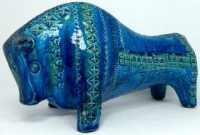 ALDO LONDI FOR BITOSSI RIMINI BLUE CERAMIC BULL