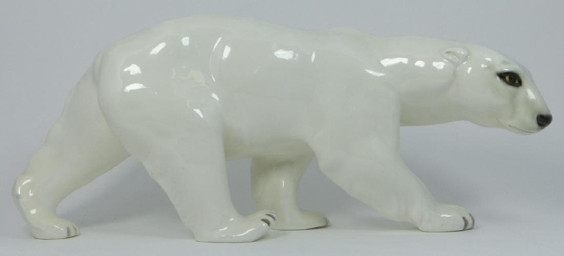 GOLDSCHEIDER CERAMIC POLAR BEAR WERNEKINCK