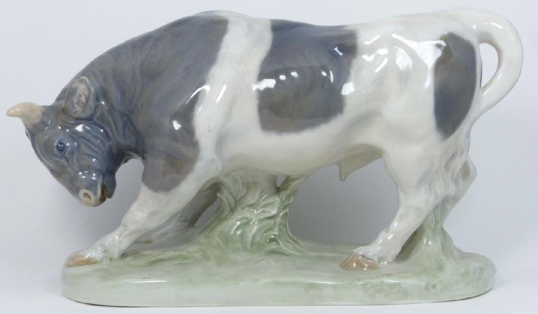ROYAL COPENHAGEN PORCELAIN BULL SCULPTURE