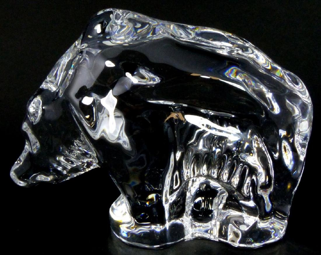 ORREFORS SWEDISH GLASS BEAR FIGURE - 4