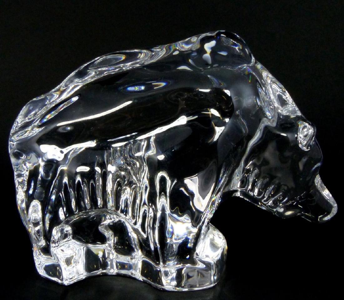 ORREFORS SWEDISH GLASS BEAR FIGURE - 6