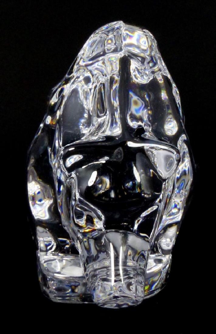 ORREFORS SWEDISH GLASS BEAR FIGURE - 7