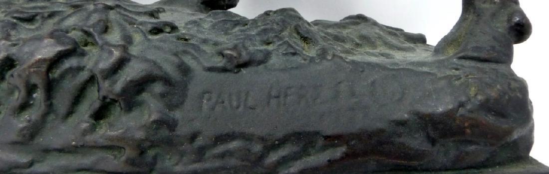 PR PAUL HERZEL BULL & BEAR BOOKENDS - 5