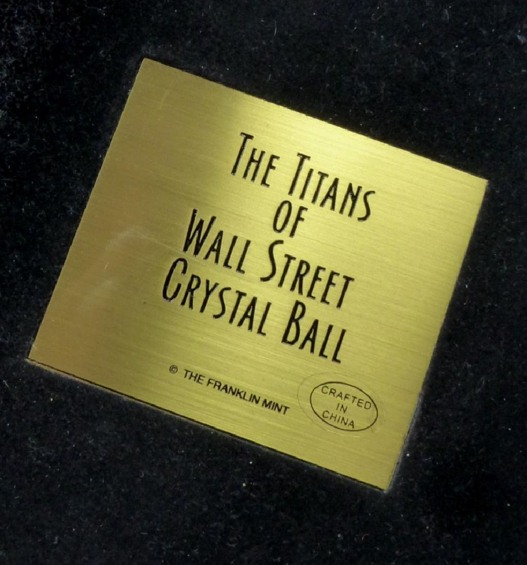 'THE TITANS OF WALL STREET' BRONZE w CRYSTAL BALL - 6