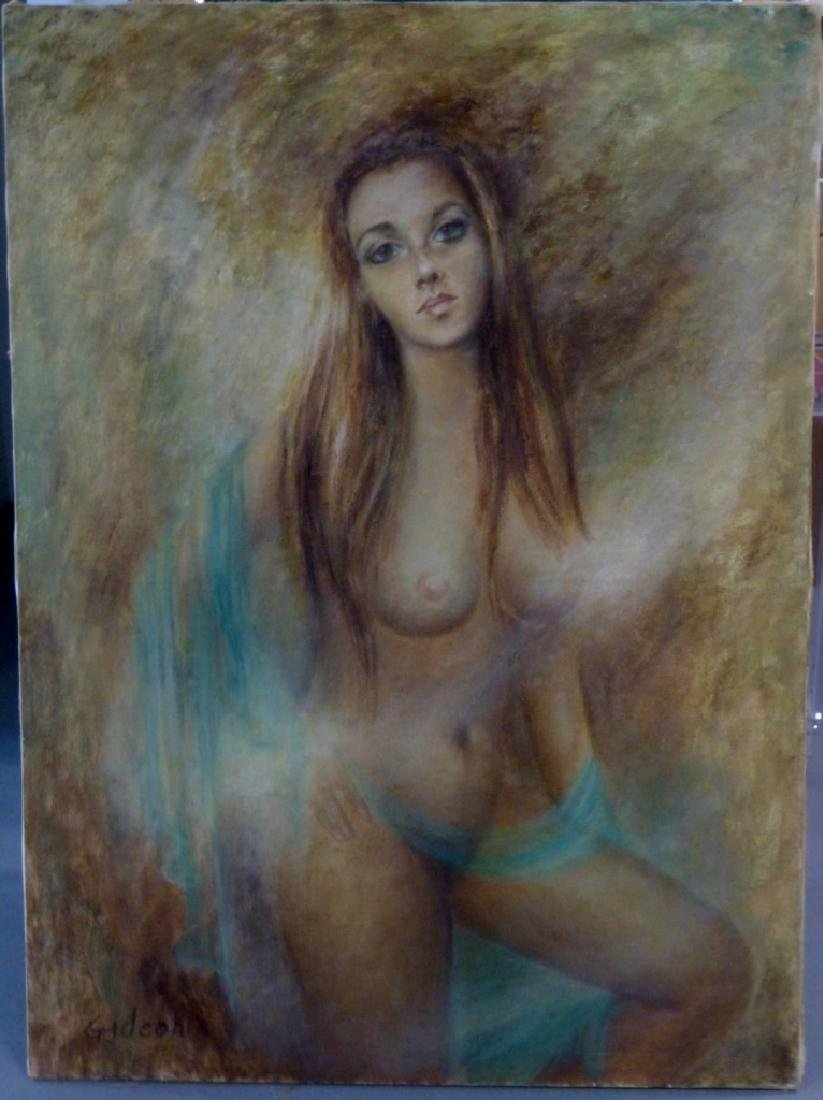 ELMO GIDEON OIL PAINTING ON CANVAS OF NUDE