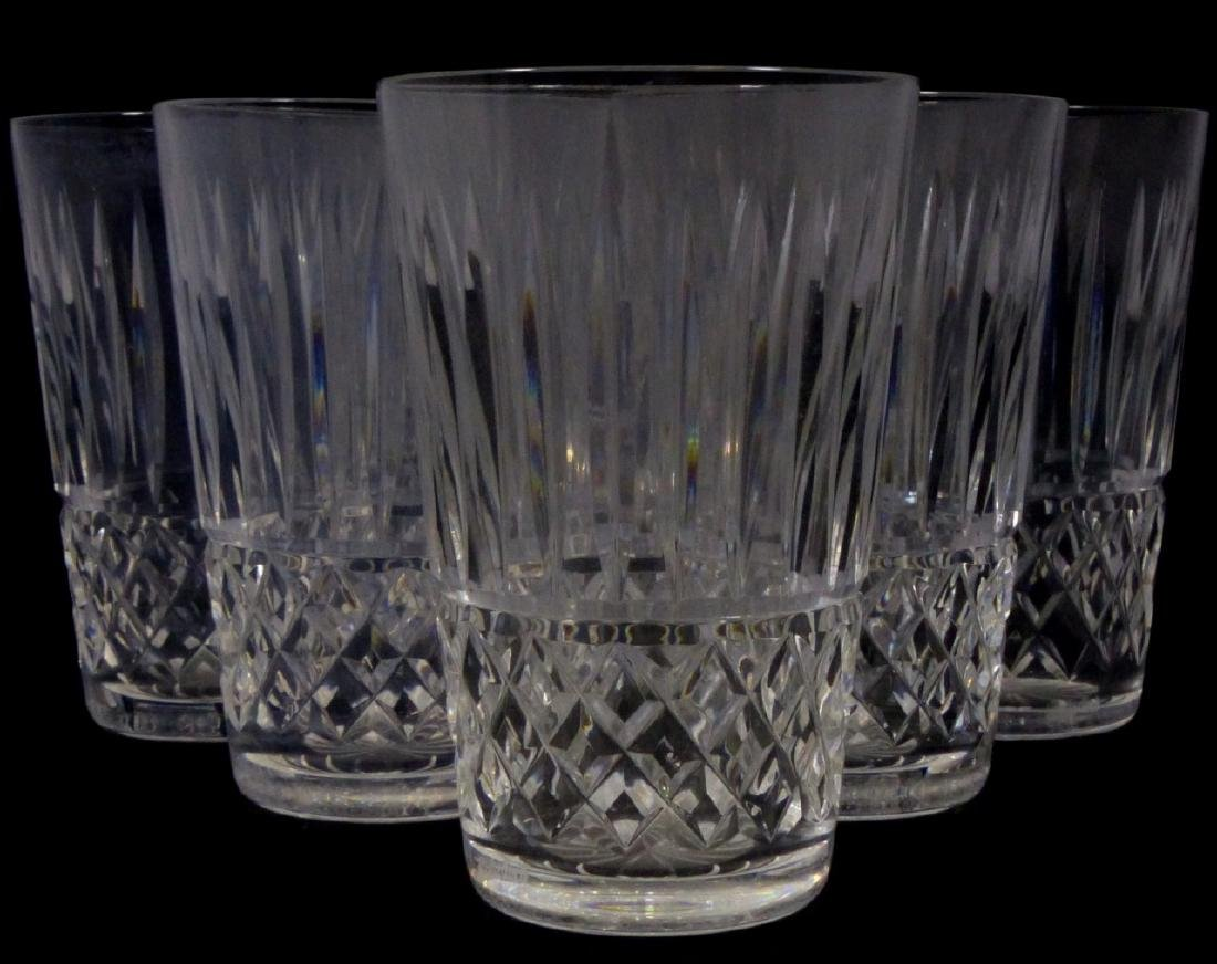 11pc WATERFORD MAEVE TRAMORE CUT CRYSTAL TUMBLERS