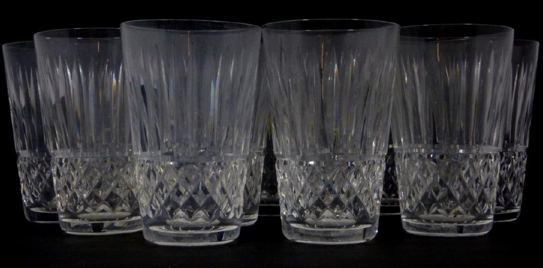 11pc WATERFORD MAEVE TRAMORE CUT CRYSTAL TUMBLERS - 3