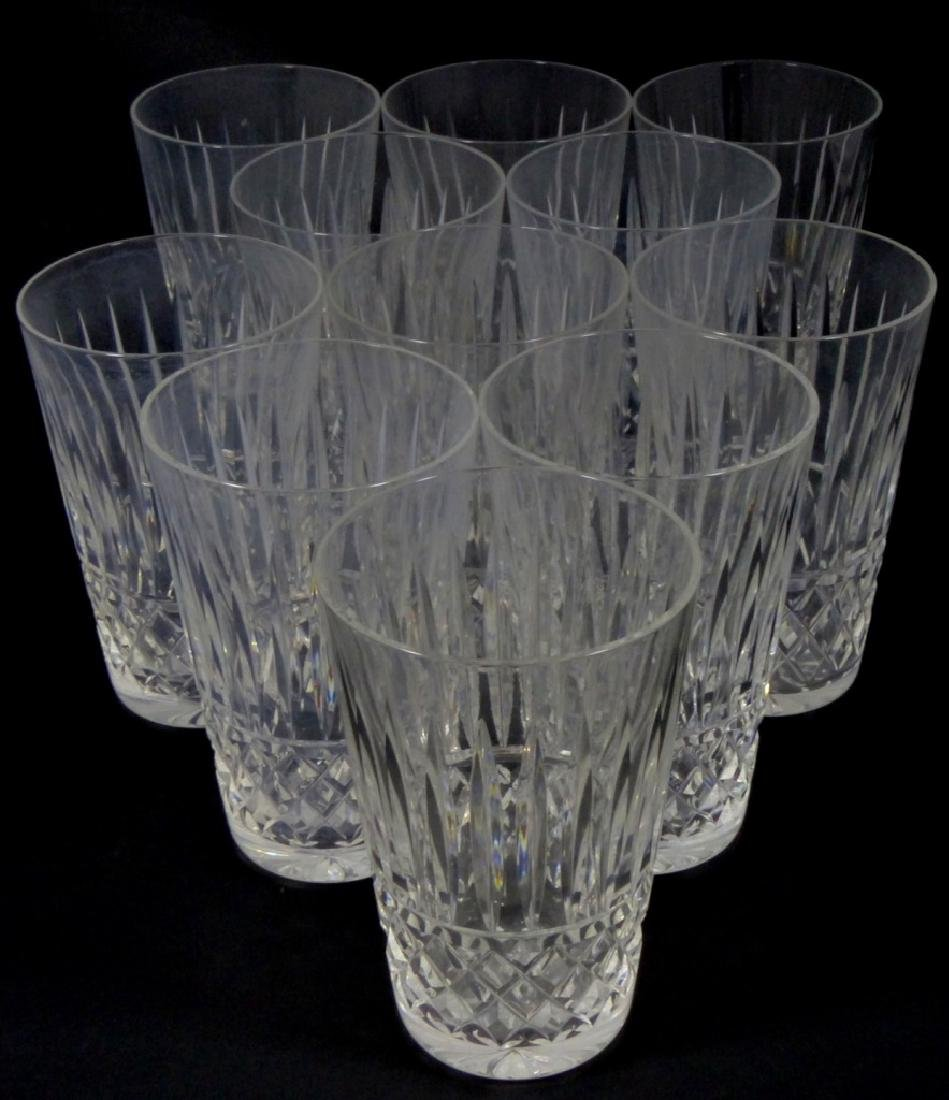 11pc WATERFORD MAEVE TRAMORE CUT CRYSTAL TUMBLERS - 4