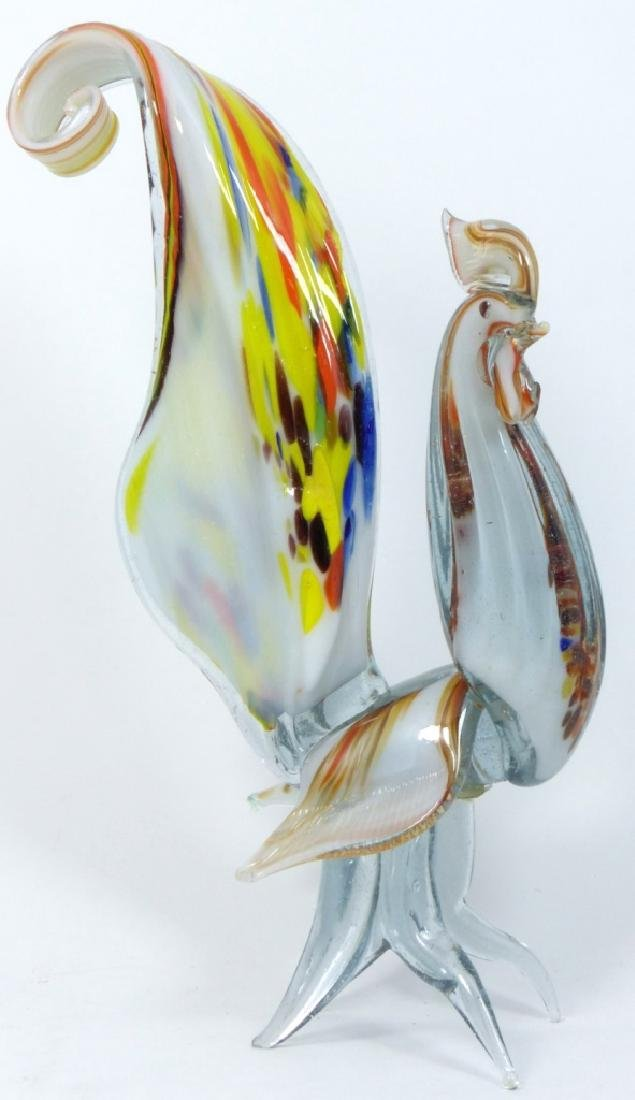 PR LARGE MURANO ART GLASS ROOSTERS - 4