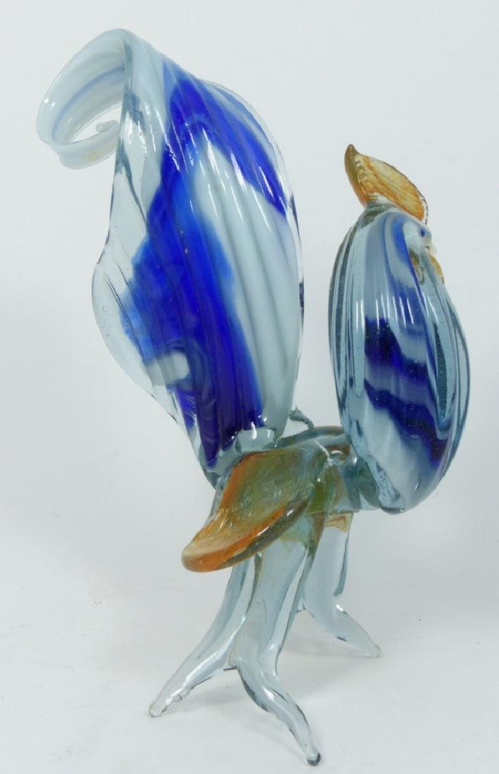 7pc MURANO ART GLASS ROOSTERS - 4