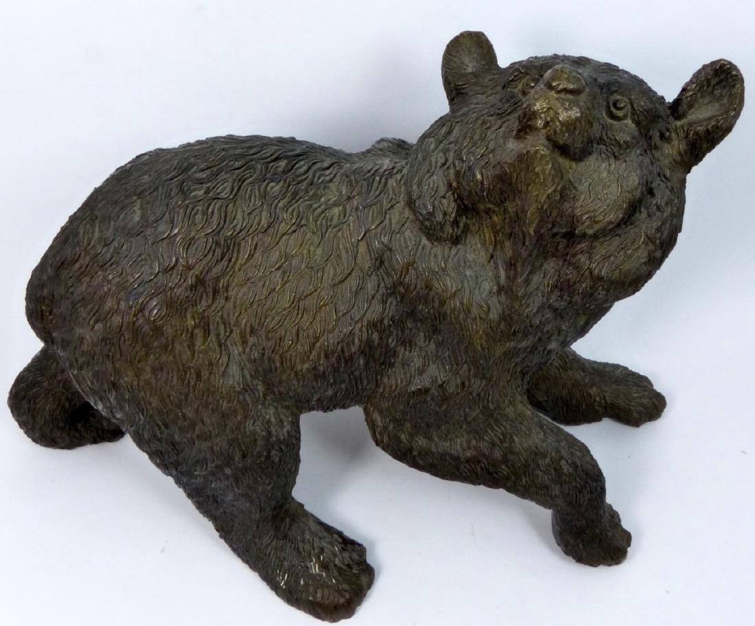 BRONZE BEAR SCULPTURE