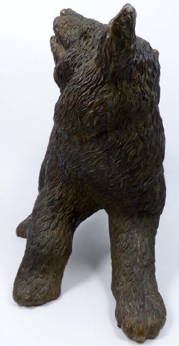 BRONZE BEAR SCULPTURE - 3