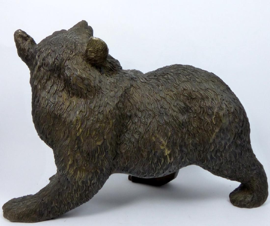 BRONZE BEAR SCULPTURE - 4
