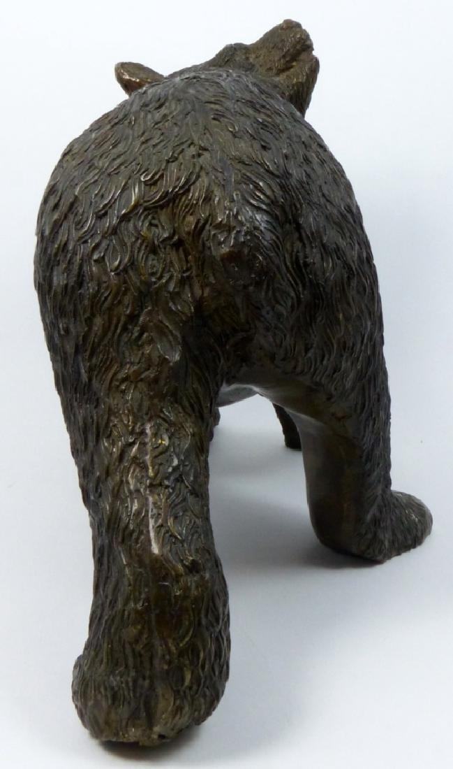 BRONZE BEAR SCULPTURE - 5