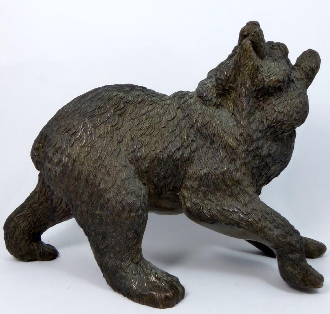 BRONZE BEAR SCULPTURE - 6