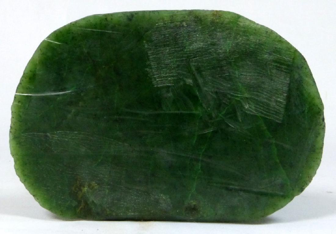 TIBETAN GREEN HARDSTONE BUDDHA HEAD SCULPTURE - 6