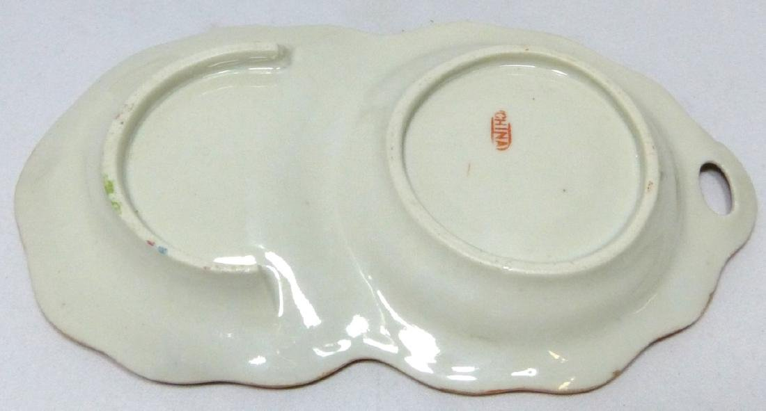 8pc CHINESE ROSE MEDALLION SNACK PLATES w TEACUPS - 6