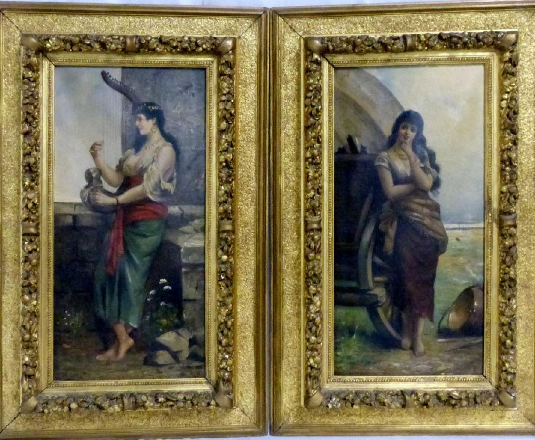 PR ANTIQUE ITALIAN OIL PAINTINGS ON CANVAS