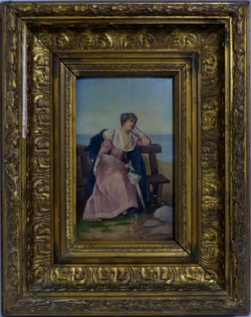 PR ANTIQUE ITALIAN OIL PAINTINGS ON PANEL OF WOMEN - 2