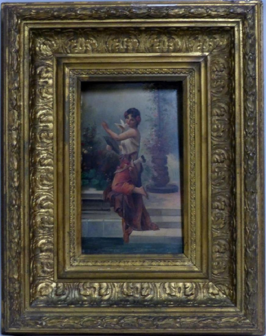 PR ANTIQUE ITALIAN OIL PAINTINGS ON PANEL OF WOMEN - 4